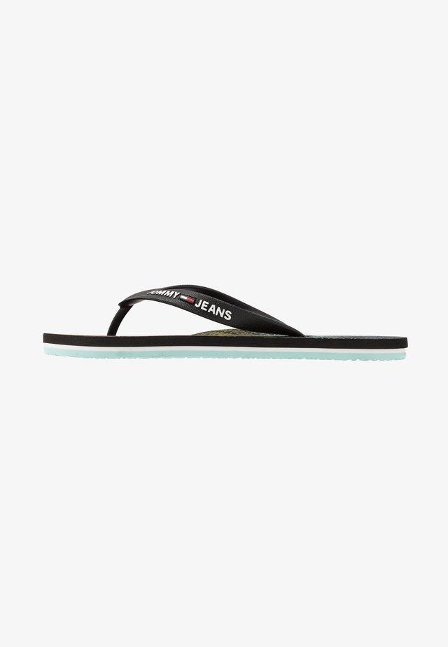 REPEAT PRINT BEACH - Pool shoes - black