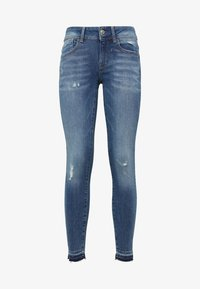 G-Star - LYNN MID SKINNY RIPPED ANKLE - Jeans Skinny - blue denim - 4