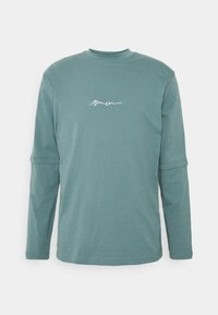 Mennace - ESSENTIAL SIGNATURE LAYERED UNISEX  - Topper langermet - dark green - 0