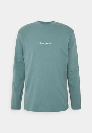 ESSENTIAL SIGNATURE LAYERED UNISEX  - Long sleeved top - dark green