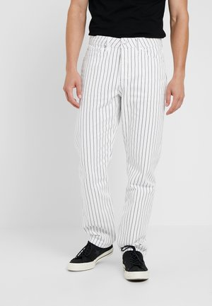 STRIPE ORIGINAL - Relaxed fit jeans - white/dark blue