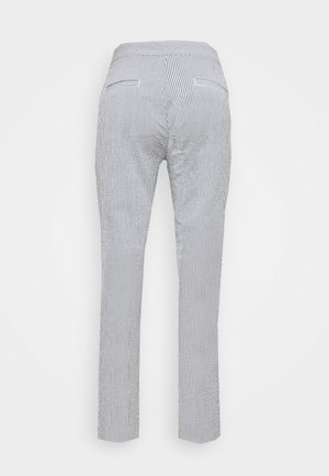 SEERSUCKER PANT - Pantalon classique - navy/white
