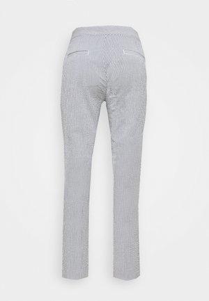 SEERSUCKER PANT - Trousers - navy/white