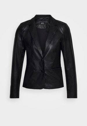 ONLALMA FAUX LEATHER BLAZER - Blazer - black