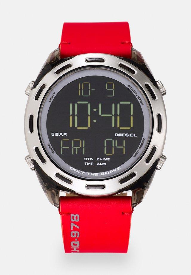 CRUSHER - Digital watch - red/black
