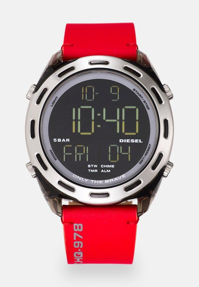 Diesel - CRUSHER - Digital watch - red/black