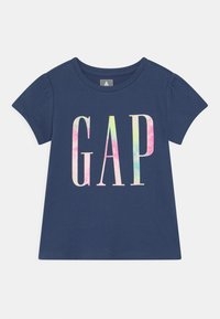 GAP - TODDLER GIRL LOGO - Print T-shirt - navy uniform - 0