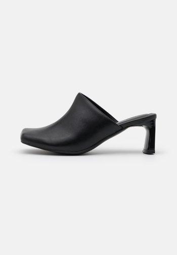 JESSIE - Heeled mules - black