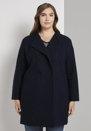 MY TRUE ME ZWEIREIHER BOUCLÉ-MANTEL - Classic coat - sky captain blue