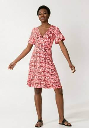 ROSEMARY - Jersey dress - red