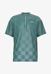 Gore Wear - GORE® C3 CHESS ZIP TRIKOT - Print T-shirt - nordic blue - 4