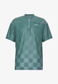 GORE® C3 CHESS ZIP TRIKOT - T-Shirt print - nordic blue