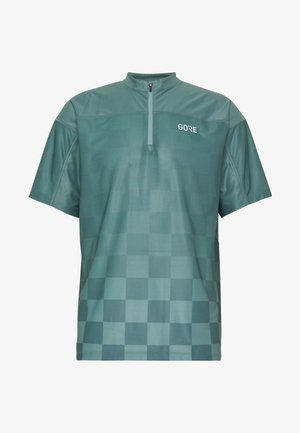 GORE® C3 CHESS ZIP TRIKOT - Print T-shirt - nordic blue