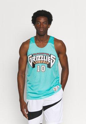NBA VANCOUVER GRIZZLIES MIKE BIBBY REVERSIBLE TANK - Club wear - teal/white