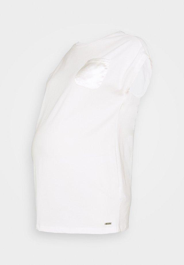 Print T-shirt - vanilla white