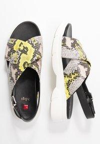 Högl - Platform sandals - multicolor/limone - 3
