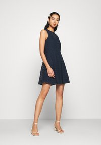 Vero Moda - VMALLIE SHORT DRESS - Day dress - navy blazer - 1