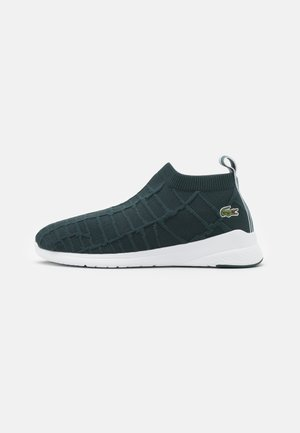 FIT SOCK - Baskets basses - dark green/white