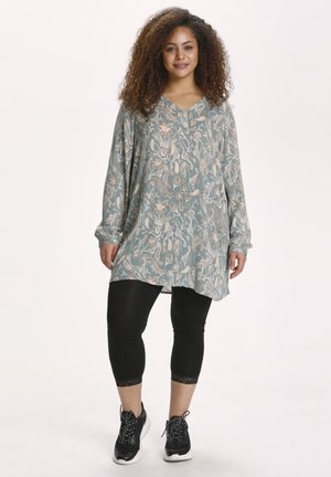 Tunic - mint green paisley print