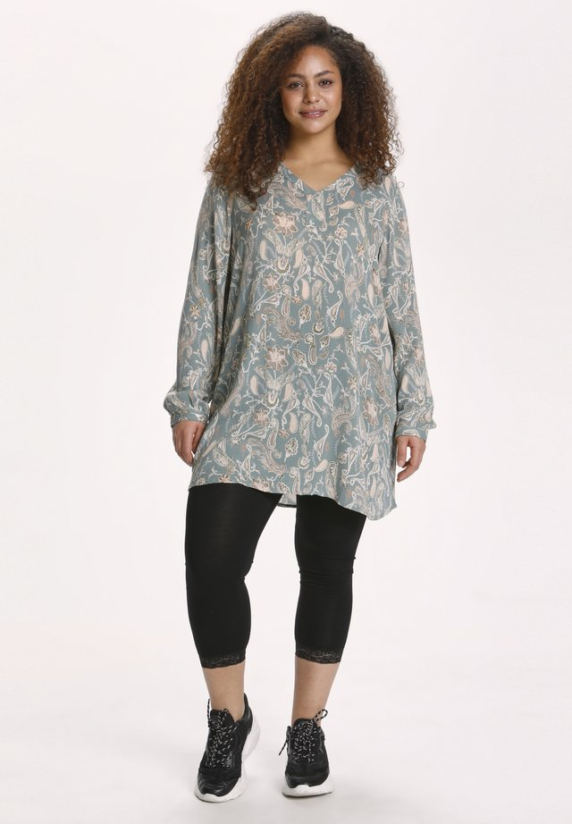 Tunika - mint green paisley print