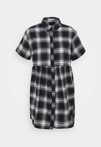 Missguided Petite - SMOCK DRESS CHECK - Shirt dress - black - 4