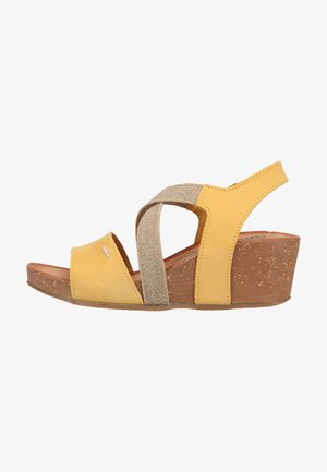 Sandalen met plateauzool - giallo
