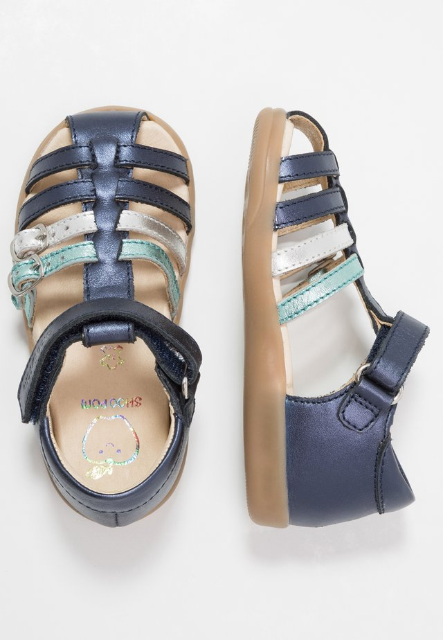 PIKA SPART - Sandales - navy/opal/silver