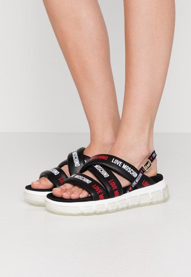 Sandalias con plataforma - nero