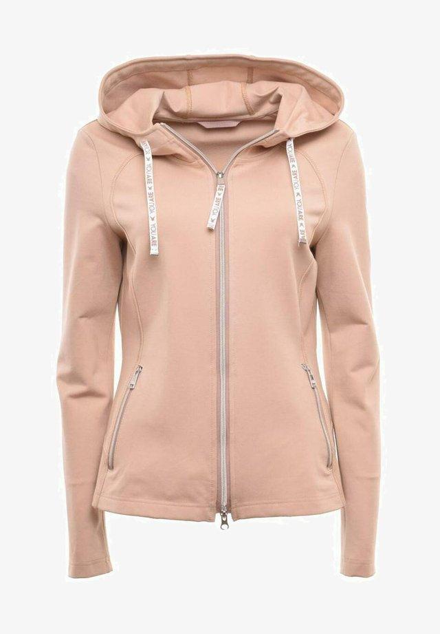 Zip-up hoodie - bisquit