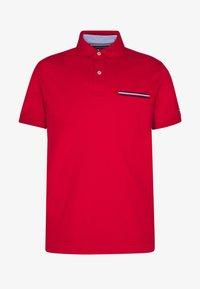 POCKET DETAIL SLIM POLO - Polo shirt - red