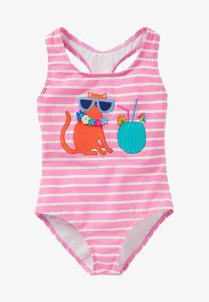 Swimsuit - pflaumenblütenrosa/naturweiß/katze