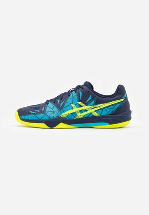 GEL-FASTBALL 3 - Handball shoes - peacoat/safety yellow