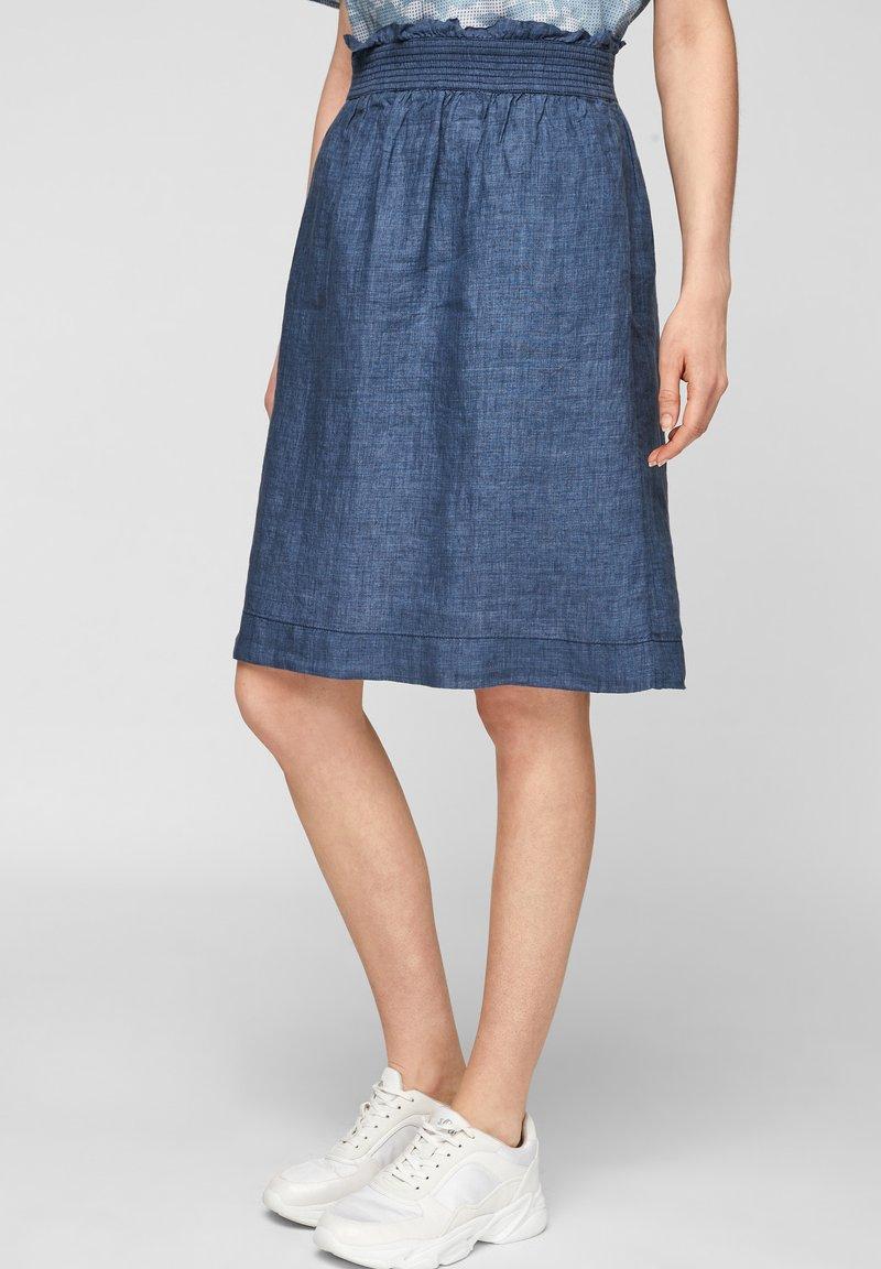 s.Oliver - A-line skirt - faded blue melange