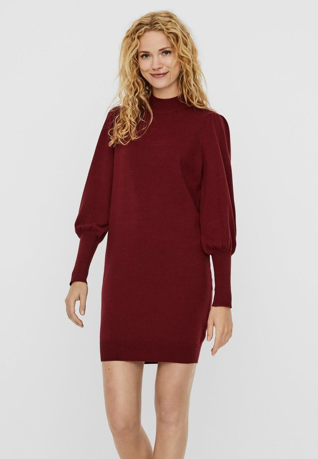 Vestido de punto - cabernet