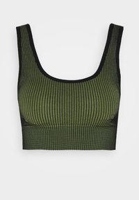 THE SEAMLESS BRA - Sports bra - khaki