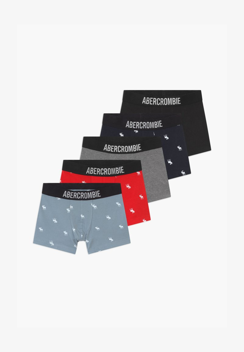 Abercrombie & Fitch - UNDERWEAR NEUTRAL 5 PACK - Panties - blue/grey/navy/red