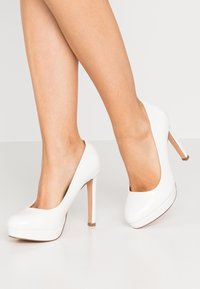 Even&Odd Wide Fit - High heels - white - 0