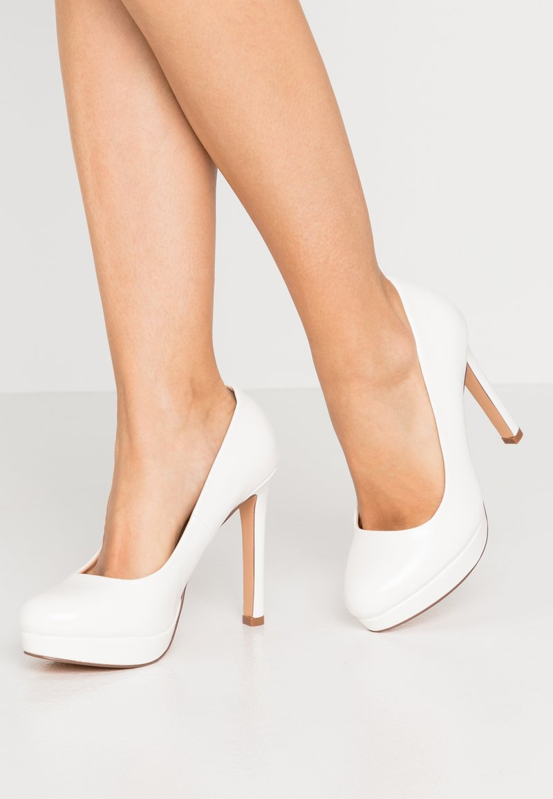 Even&Odd Wide Fit - High heels - white