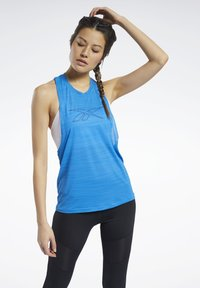 Reebok - WORKOUT READY ACTIVCHILL TANK TOP - Top - blue - 0