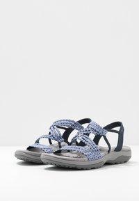 Skechers Wide Fit - REGGAE SLIM - Sandals - navy - 4