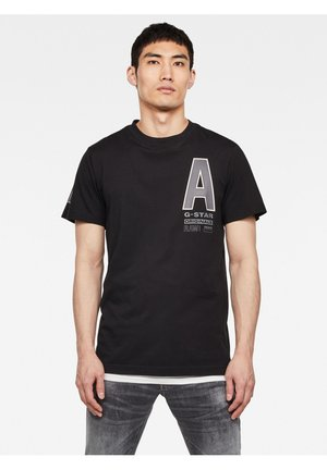 MULTI SPACE RAW GR - Print T-shirt - dk black