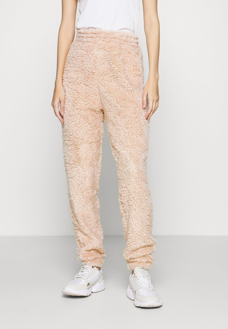 New Look - TEDDY JOGGERS - Tracksuit bottoms - camel