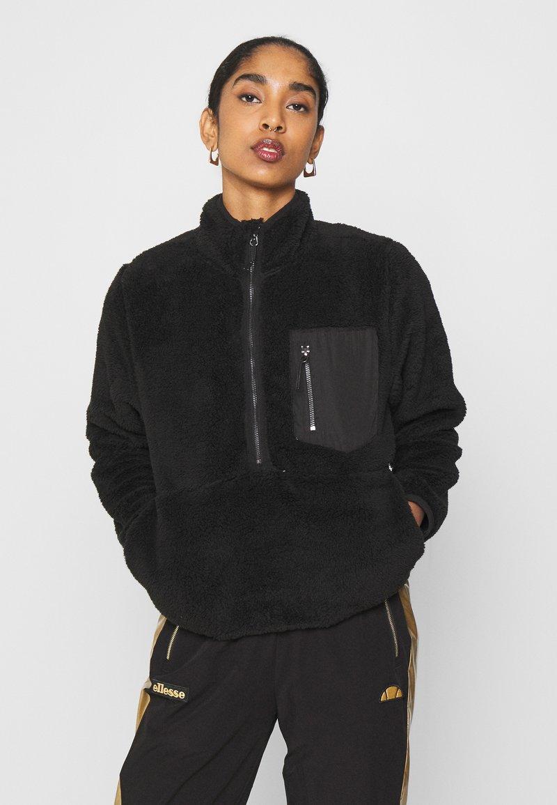 ONLY - ONLDALINA ZIP - Fleecepullover - black