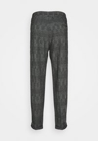Calvin Klein Tailored - TAPERED PLEAT COMFORT CHECK - Trousers - black - 1