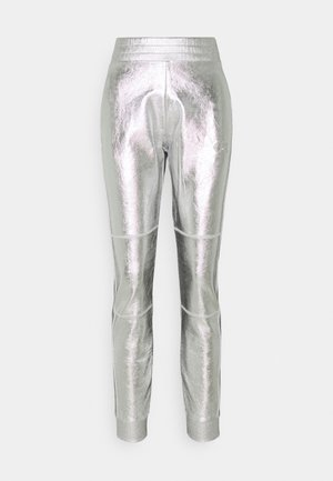 COATED PANTS - Tracksuit bottoms - silver