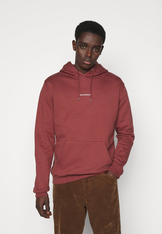 BARROW PRINTED HOODIE - Felpa con cappuccio - burned red