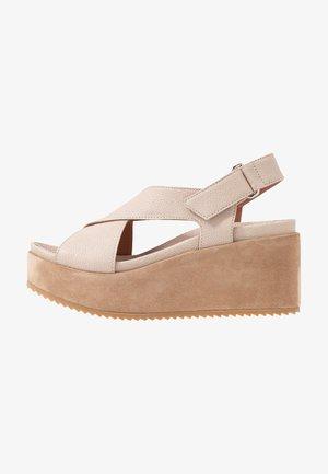DUO - High heeled sandals - beige