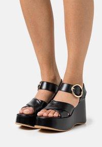 See by Chloé - LYNA WEDGE - Platform sandals - black - 0