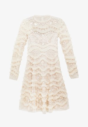 RUFFLE BLOOM DRESS - Cocktailklänning - pearl rose/champagne