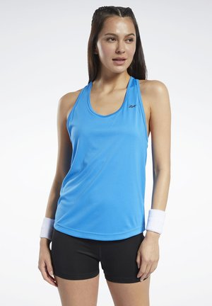 MESH BACK TANK TOP - Top - blue